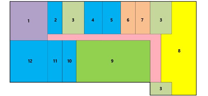 第一办公楼地下1楼,机械室,ev,楼梯,地籍调查室,男休息室,男卫生间,女卫生间,治愈室,民防卫情况室,文件库,清洁工等候室,电气室,发动机室