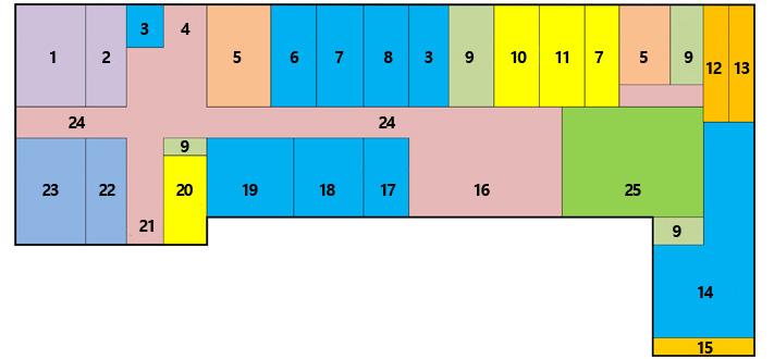 第一办公楼1楼,企划总务委员会,准备室,ev,后门,卫生间,志愿服务中心,仓库,空调室,楼梯,接待室,值班室,仓库,地籍,文件,信访投诉室,入口,税务科,大厅,走廊,幸福分享科长室,幸福分享科,女性家庭科,等候室,广播室,产业建设委员会