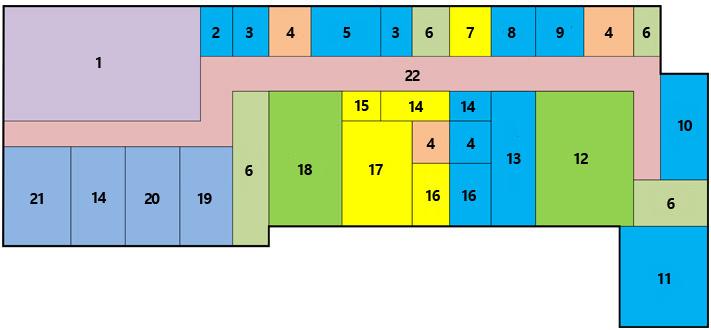 第一办公楼2楼,总会议长,准备室,ev,卫生间,写作室,楼梯,后门,仓库,行政科长室,会议室,礼堂,行政科,副市长室,附属室,休息室,保管室,市长室,走廊,企划预算负责官员,事务局长室,副议长室,议长室