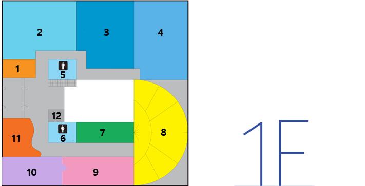 地下1楼导览图,渔业振兴科,海洋管理科,水产品,1楼展览室,市金库,端正生活协议会,女卫生间,男卫生间,ev,平统,休息室,接待室