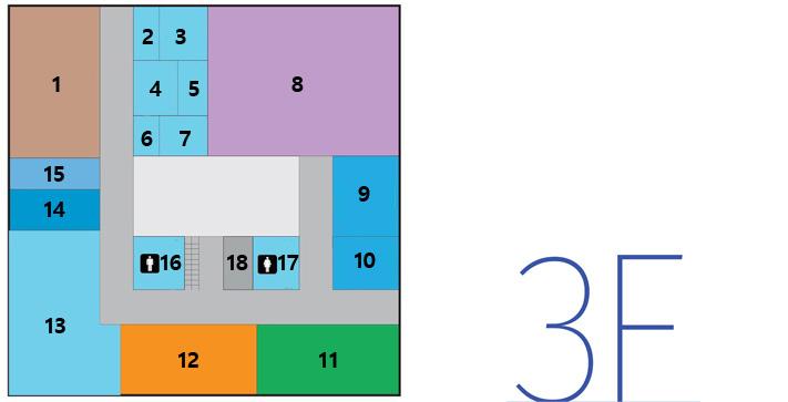 第二办公楼3楼,地区经济科,综合管制负责人,工作人员等候室,大厅,管制会议室,茶水间,CCTV综合管制中心,通信设备室,广播设备室,女卫生间,男卫生间,ev,环境科,资源循环科,城市科,城市科文件库,就业支援中心